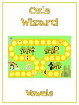 OZ'S WIZARD Vowels- ELA First Grade Folder Game - Word Wor