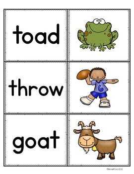 Oa and Ow Vowel Pairs Literacy Resource