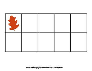 Oak Leaf Tens Frames 0-30 for Subitizing Practice...Fall, Autumn, Trees