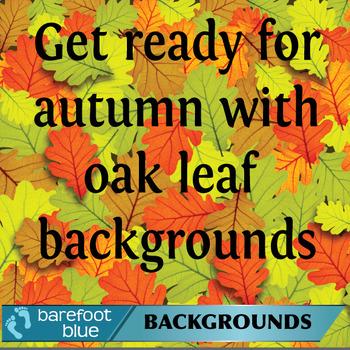 Oak Leaves Autumn Backgrounds/Digital Paper