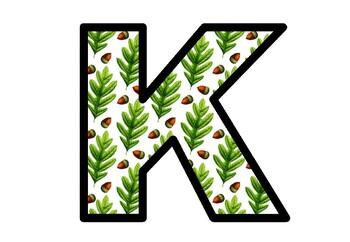 Oak Leaves, Fall, Bulletin Board Letters, Classroom Decor, Acorn Letters
