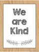 Oak Wood and White Classroom Posters- Rules and Growth Mindset