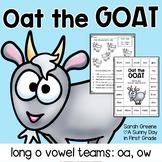 Long o Vowel Teams: oa & ow