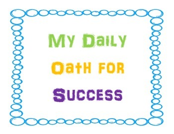 Oath/Pledge for Success