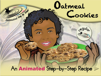 Oatmeal Cookies - Animated Step-by-Step Recipe - Regular