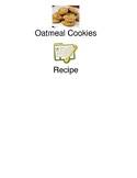 Oatmeal Cookies - visual supported recipe picture supports