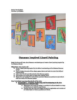 Oaxacan Inspired Lizard Painting