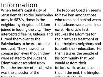 Obadiah Power Point Notes