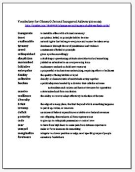 Obama Second Inaugural Address Argumentative Essay Speechwriting Techniques