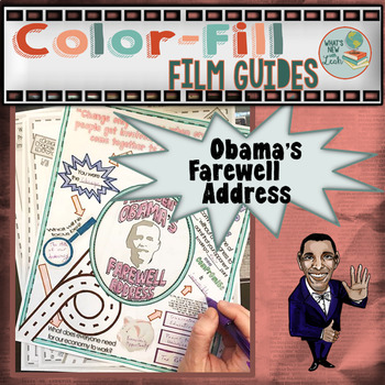 Obama's Farewell Address Colorfill Film Guide Doodle Notes #kindnessnation
