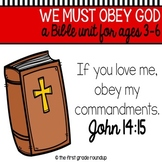 Obedience Bible Unit