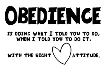 Obedience Coloring Sheet