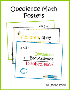 Obedience Math Printable Posters