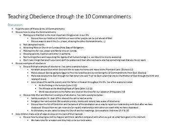 Obedience & the 10 Commandments