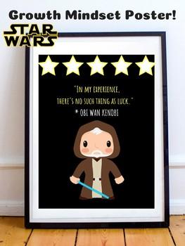 Obi Wan Kenobi Star Wars Theme Growth Mindset Poster For Classroom Decor