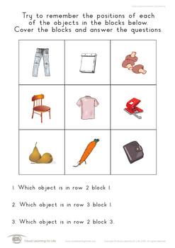 Object Block Positions (9 Blocks)