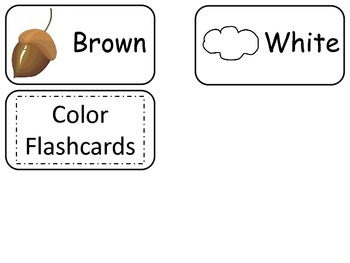 Object Colors printable Picture Word Flash Cards. Preschool flashcards.