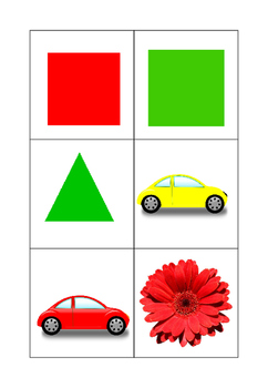 Object + Colour flashcards