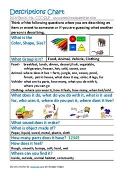 Object Descriptions - 10 Features