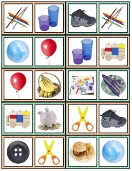 Object Dominoes preschool game