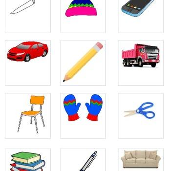 Object Function Bingo Board