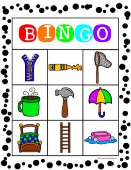 Object-Function Bingo {Building Language Skills}
