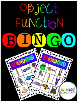 Object-Function Bingo {Building Language Skills}