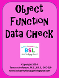 Object Function Data Check Elementary