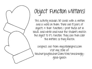 Object Function Mitten Match!