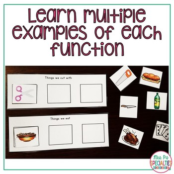Object Function Pack - Receptive & Expressive (Special Ed. & Speech Resource)