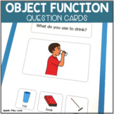 Object Function Speech Therapy Cards with Visual Choices  