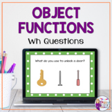Object Functions No Print for Speech Therapy, Teletherapy