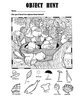 Object Hunt/Colouring Sheets