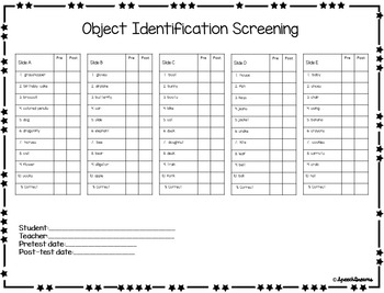 Object Identification {Autism Matching Data Progress Monitoring Intervention}