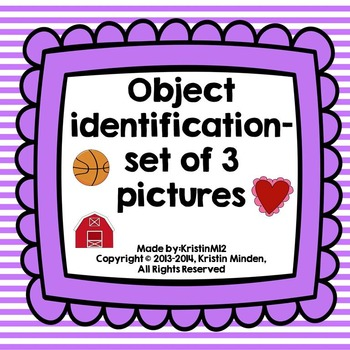 Object Identification-set of 3