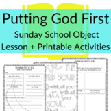 Object Lesson for Putting God First | Lesson directions +