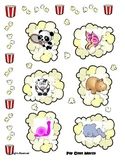 Object Matching - Popcorn Theme - File Folder style Printa