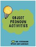 Object Pronoun Activities: Sentences, Pictures, Dice Game
