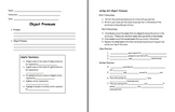 Object Pronoun Movement Activity and Note Sheet