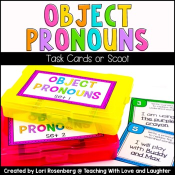 Object Pronoun Scoot or Task Cards