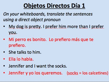 Object Pronoun Super Pack--Direct / Indirect / Reflexive