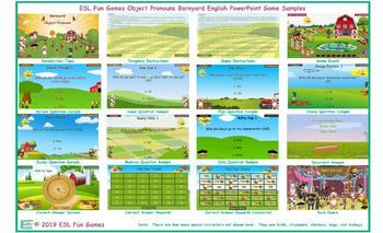 Object Pronouns Barnyard English PowerPoint Game