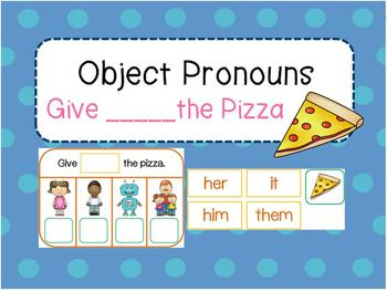 Object Pronouns (Give ___ the Pizza)