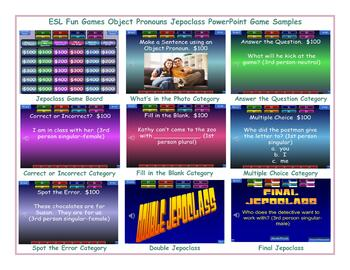 Object Pronouns Jeopardy PowerPoint Game Slideshow