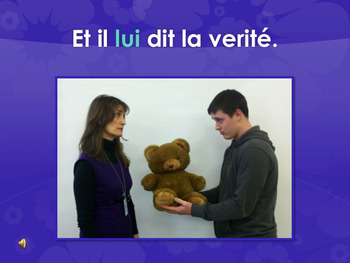 Double Object Pronouns TPR Story in French