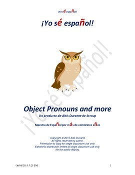 Object Pronouns and more
