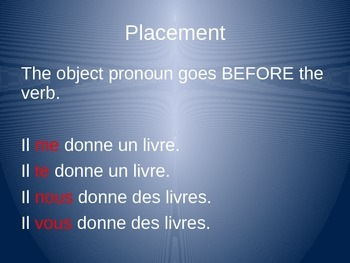 Object Pronouns in Positive Commands