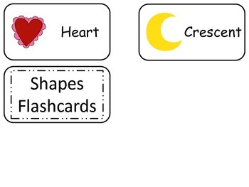 Object Shapes printable Picture Word Flash Cards. Preschool flashcards.