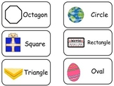 Object Shapes printable Picture Word Flash Cards. Preschoo