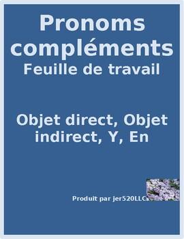 Pronoms compléments Object pronouns worksheet 2